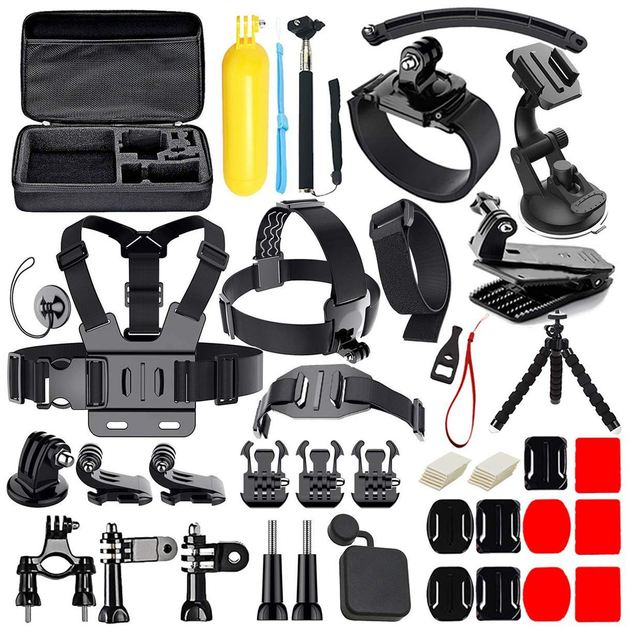 Ape Basics: 50-in-1 Action Camera Accessories Kit for GoPro Hero 8 7 6 5 4 3+