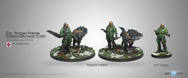 Infinity: Ariadna - Col. Yevgueni Voronin, Cossack Diplomatic Corps (AP CCW)