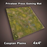 FLG Privateer Press Mat: Caspian Plains Neoprene Gaming Mat (4x4)