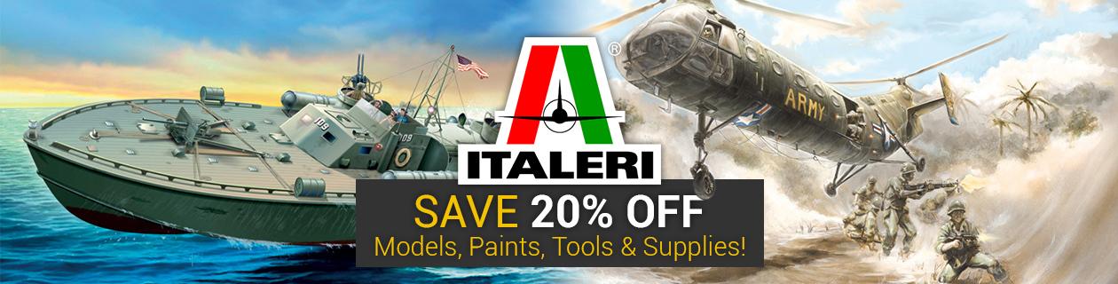 Save 20% off Italeri!