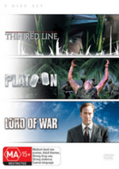 Thin Red Line / Platoon / Lord Of War (3 Disc Set) on DVD