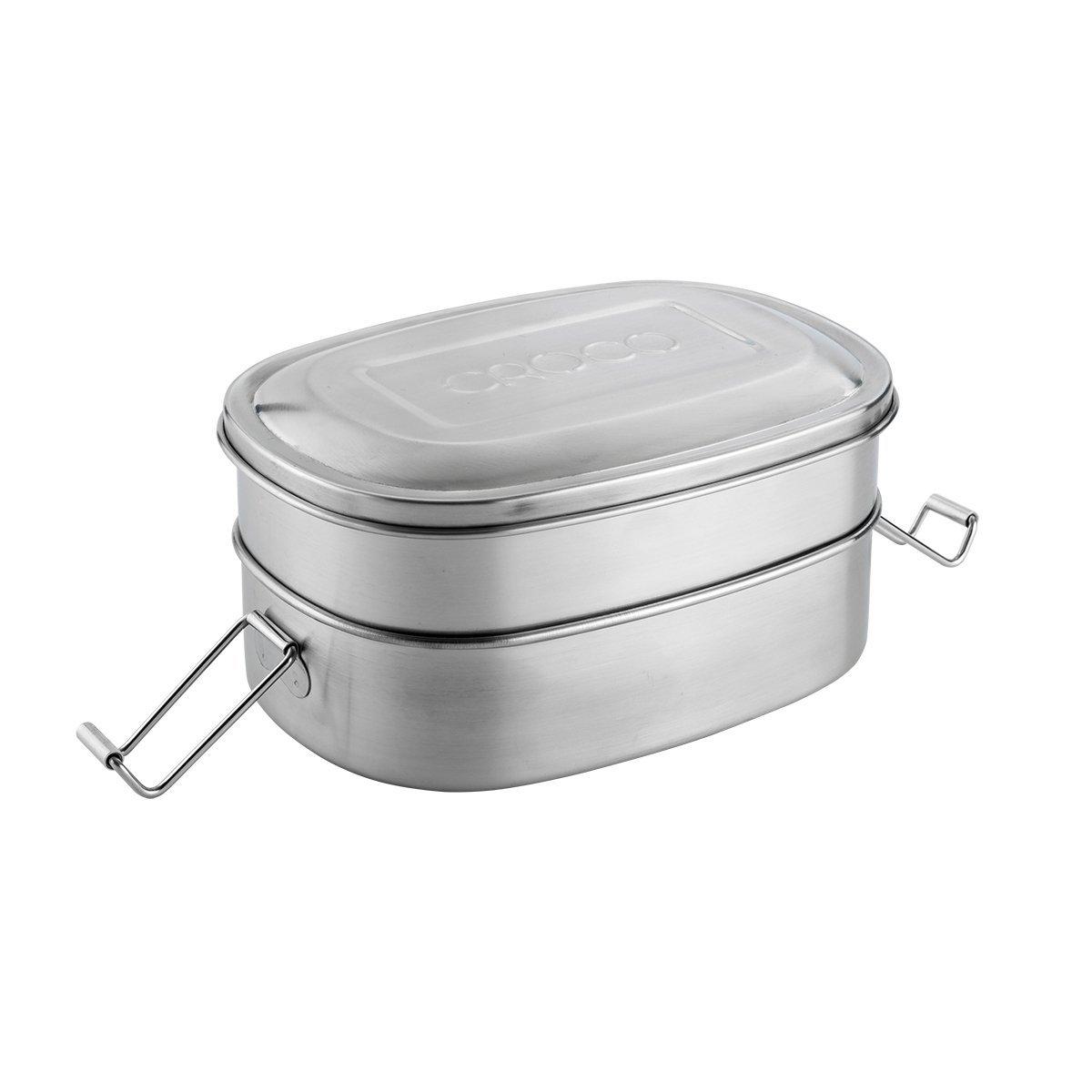 Croco Stacker - Bento Luncbox & Snack Pod Set image