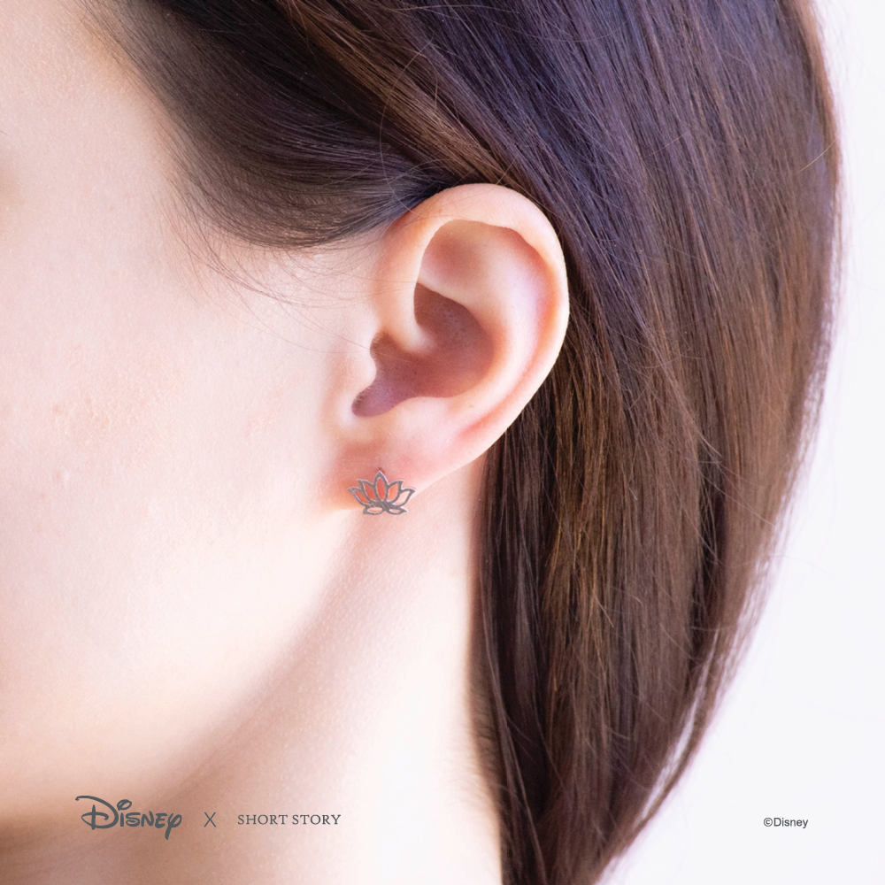 Disney Earring Jasmine Lotus - Silver image
