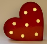 LED Heart Wall Decoration - Red