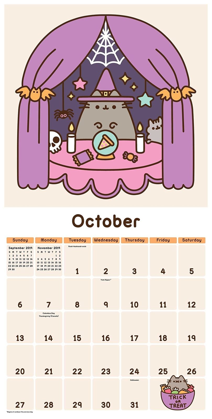 Pusheen the Cat 2019 Wall Calendar by Claire Belton image