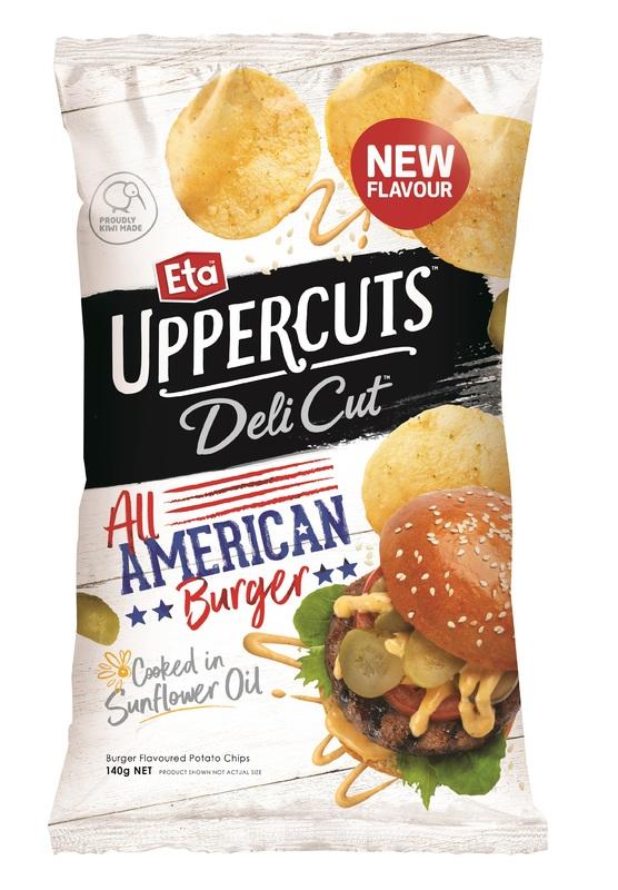 Eta Uppercuts: Delicut American Burger Chips 140g