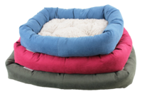 Pawise: Dog Bed with Remove Pillow - Large/Red