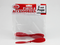 "Red Plastic Propellers 5"" (3pk)"