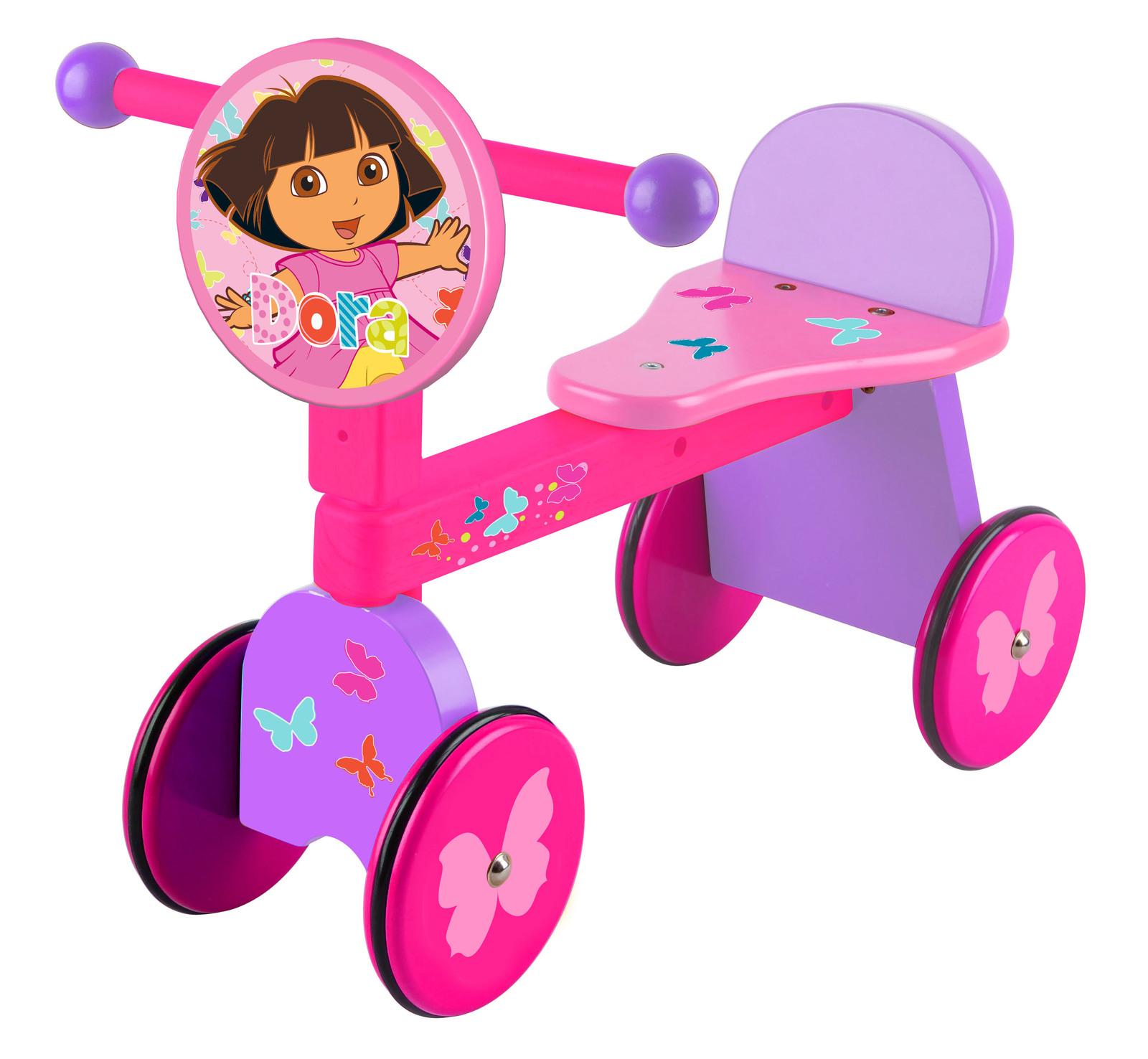 Dora The Explorer 4 Wheel Wooden Ride On Image
