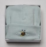 Dimples: Gift Boxed - Merino Pastel Marl Beanie - Mint (3-6 Months)