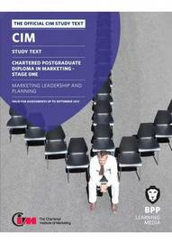 CIM 11 Marketing Leadership and Planning by BPP Learning Media