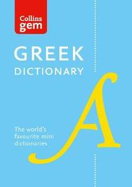 Collins Greek Gem Dictionary by Collins Dictionaries