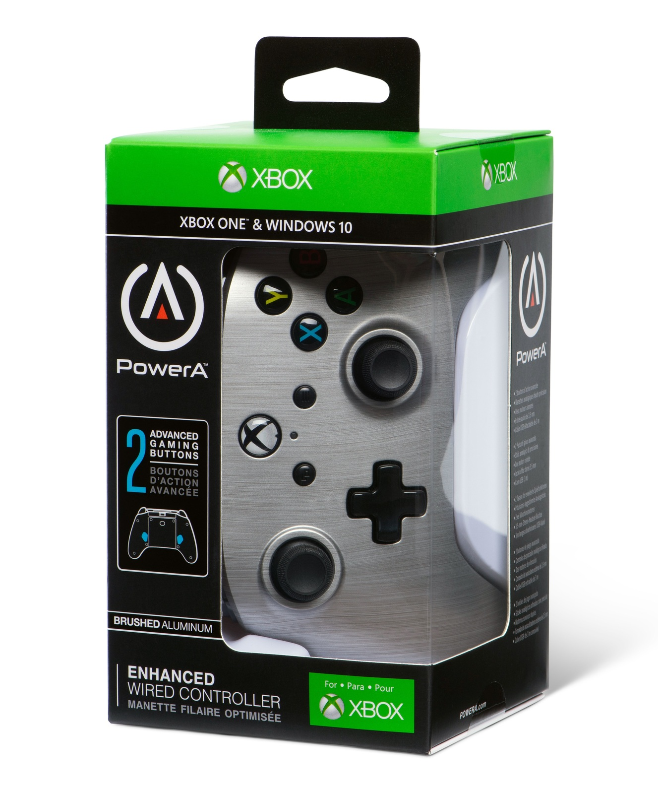 Xbox One Enhanced Wired Controller - Brushed Aluminum for Xbox One image