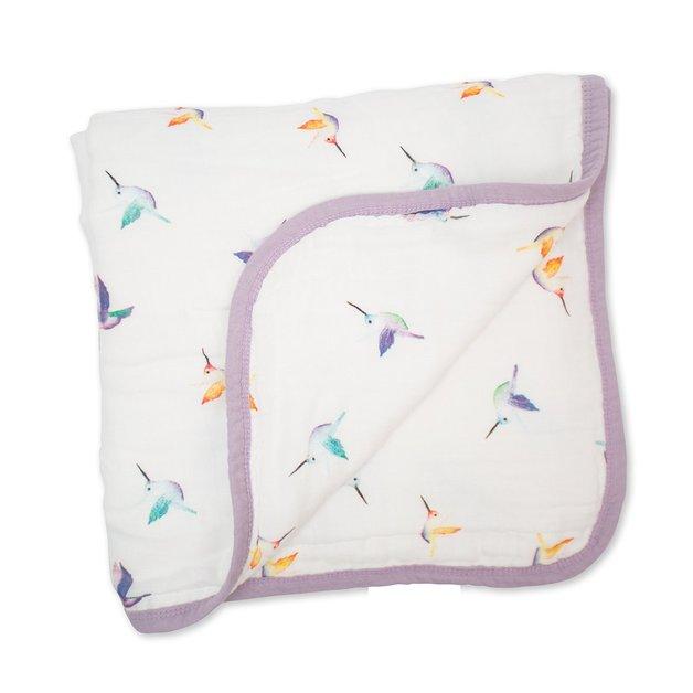 Lulujo: Bamboo Crib Quilt - Hummingbird