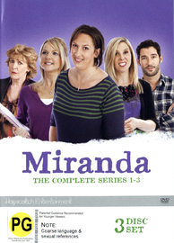 Miranda - The Complete Series One - Three on DVD