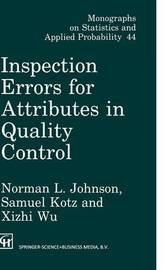 Inspection Errors for Attributes in Quality Control by Norman Lloyd Johnson image