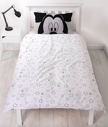 Mickey Mouse Silhouette Duvet Cover Set - Single image