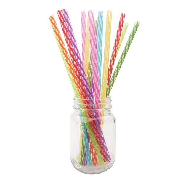 IS GIFT: Rainbow Reuseable Party Straws