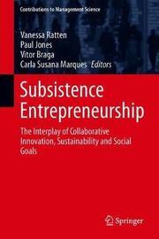 Subsistence Entrepreneurship