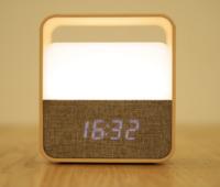 Midea Mini LED Table lamp with Clock - White
