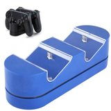 Dual USB Charging Dock Station Stand (Blue) for PS4