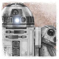Star Wars: The Last Jedi Canvas Print - R2-D2 & BB-8