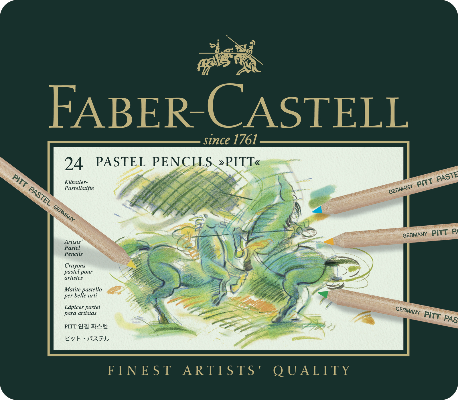 Faber-Castell: Pitt Pastel Pencil (Tin of 24) image