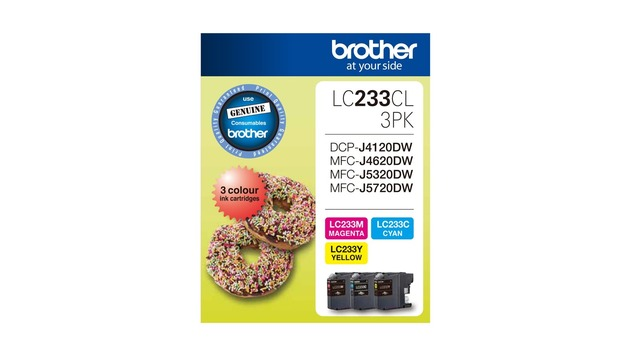 Brother LC-233CL3PK CMY Colour Ink Cartridges (Triple Pack)