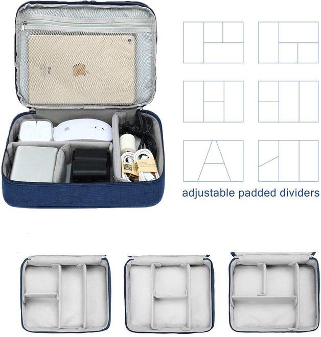 Three-layer Electronic Storage Bag - Dark Blue