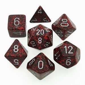 Chessex Speckled Polyhedral Dice Set - Silver Volcano image