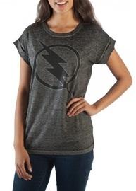DC Comics: Flash Logo - Roll-Sleeve T-Shirt (Large