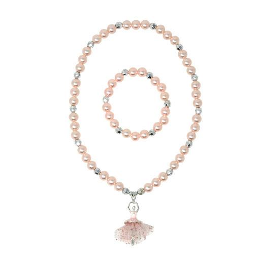 Pink Poppy: Little Ballet Dancer Necklace & Bracelet Set