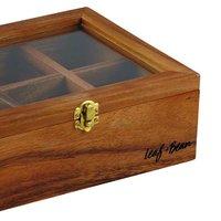 Leaf & Bean: Acacia Wood Tea Box (25x18.5x9cm)