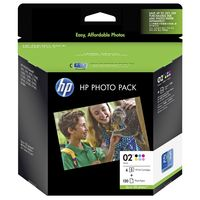 HP 02 Series Photo Pack (120 Sheets)