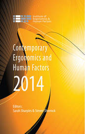 Contemporary Ergonomics and Human Factors 2014 image