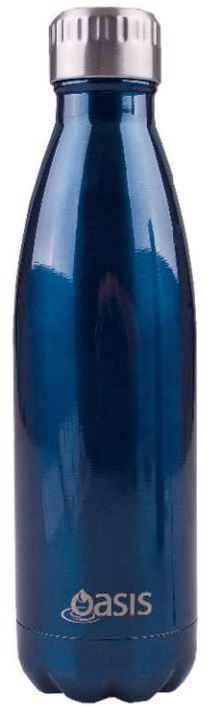 Oasis Stainless Steel Insulated Drink Bottle - Navy (500ml)