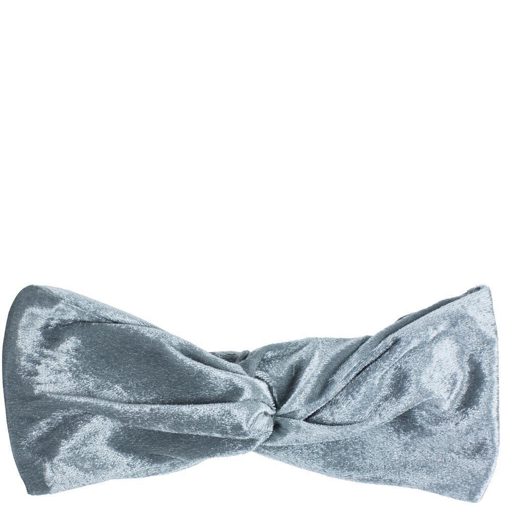 Simply Essential Velvet Cosmetic Turban - Grey image