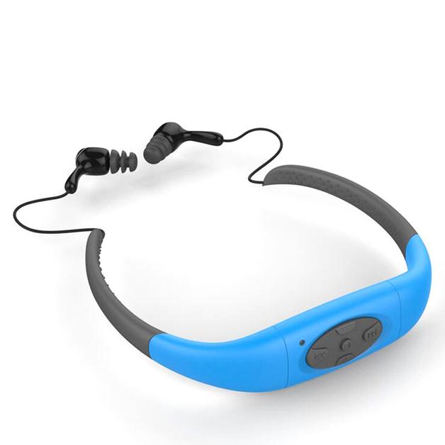 Sports Headphones with Bluetooth FM - Blue