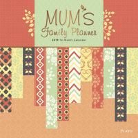 Mums Family Planner 2019 Square Plato Foil Wall Calendar