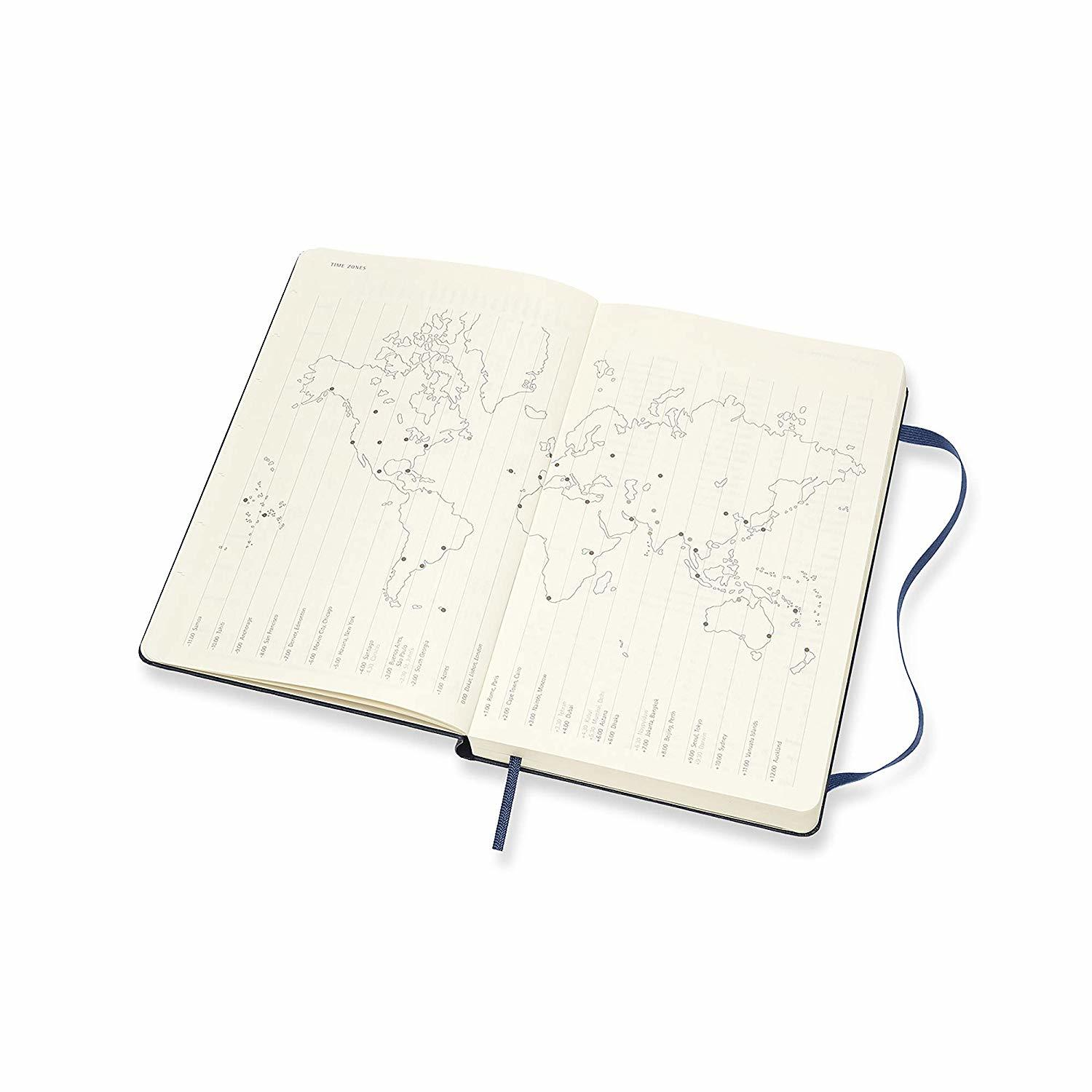 Moleskine: 2020 Diary Large Hard Cover 12 Month Daily - Sapphire Blue image