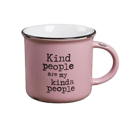 Natural Life: Camp Mug - Kind People Pink