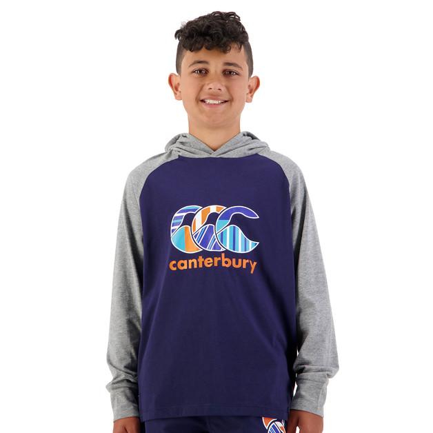 Canterbury: Boys Uglies LS Hood Tee - Peacoat (Size 16)