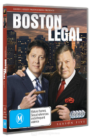 Boston Legal - Season 5 (4 Disc Set) on DVD