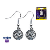 Doctor Who Seal of Rassilon Casted Dangle Earrings