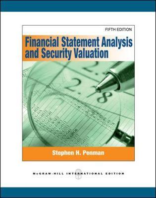 Financial Statement Analysis and Security Valuation by Stephen Penman image
