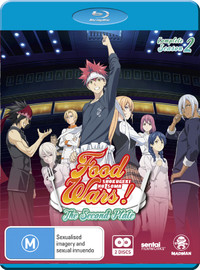 Food Wars! The Second Plate - Complete Season 2 on Blu-ray