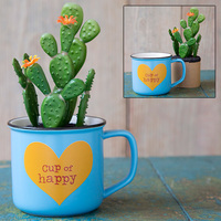 Natural Life: 2in1 Mug - Succulent Cup Of Happy
