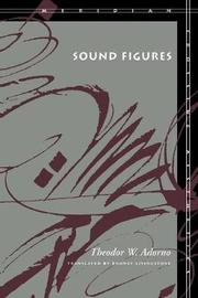 Sound Figures by Theodor W Adorno