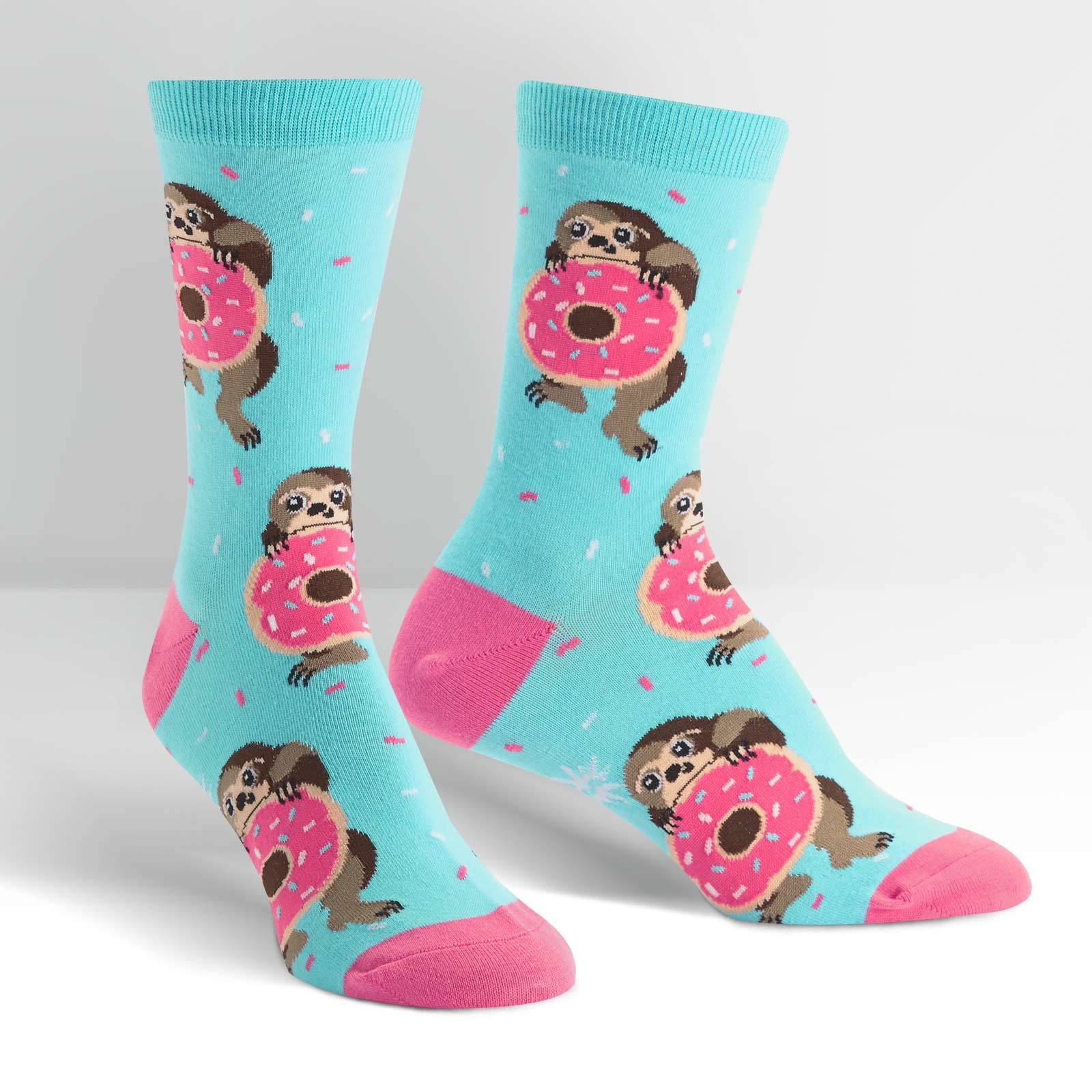 Women's - Snackin' Sloth Crew Socks image