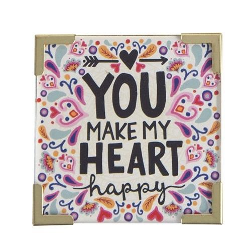 Natural Life: Corner Magnet - You Make My Heart Happy